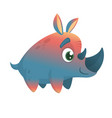 cute safari rhino vector image vector image