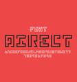 direct font alphabet vector image