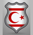 flag of northern cyprus badge and icon vector image vector image