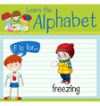 Flashcard letter F is for freezing vector image vector image