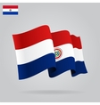 Flat and waving Paraguayan Flag vector image vector image