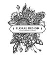 floral bouquet design with black and white african vector image vector image