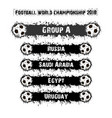 football championship 2018 group a vector image vector image