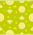 fresh lemon orange fruits seamless pattern vector image