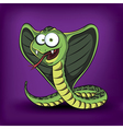funny cartoon cobra vector image