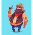 funny cowboy cartoon character vector image