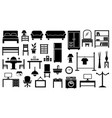 furniture icon set on white background vector image vector image