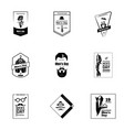 global mens day logo set simple style vector image vector image