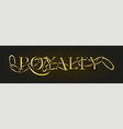 gold chain twisted with golden word royalty vector image