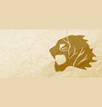 gold lion vector image vector image