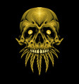 gold skull cannabis weed leaves vector image vector image