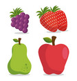 healthy lifestyle eat fruits design vector image