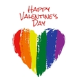 heart in rainbow colors vector image vector image