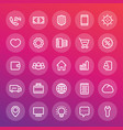 icons for web design in line style vector image vector image