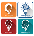 idea icons vector image
