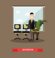 investor concept in flat style vector image