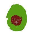 ketogenic diet lettering on hand paint avocado vector image vector image