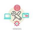 line design concept icons for web services vector image vector image
