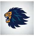 lion head roaring logo esport sports mascot design vector image vector image