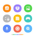 modern smartphone icons set different color web vector image