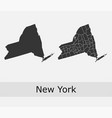 new york map counties outline vector image vector image
