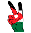 Peace Sign of the Jordan flag vector image