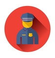 police officer icon vector image vector image