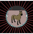 Portrait of a horse vector image vector image
