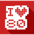 red love 80 icon vector image vector image