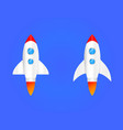 round flat icon rocket seomarketing rocket launch vector image