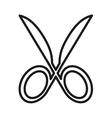 scissors cutting isolated icon design vector image vector image