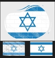 Scratched flag of Israel vector image