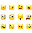 Set crazy emoticons vector image