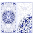 Set of invitations cards with a beautiful pattern vector image vector image