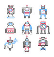set of robots for different tasks vector image vector image