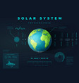 solar system infographic vector image
