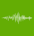 sound wave icon green vector image vector image