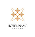 swirl decoration hotel logo vector image vector image