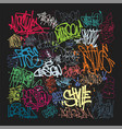 taging on wall beautiful street art graffiti vector image vector image