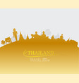 thailand travel flat style and vector image