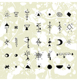 The mystical signs and symbols vector image vector image