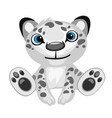 Toy black-and-white leopard cartoon isolated vector image vector image