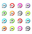 typse of transport icons set vector image