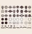 vintage badges emblem premium luxury logo vector image vector image