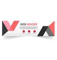 web header modern red black ribbon background vect vector image