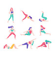 women fitness exercise posture vector image
