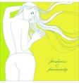 freshness and femininity vector image