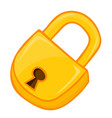 padlock isolated vector image