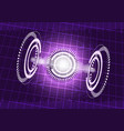 Abstract digital technology purple background