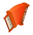 accordion icon isometric style vector image vector image